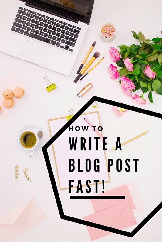 This Is How To Write a Blog Post FAST! 2