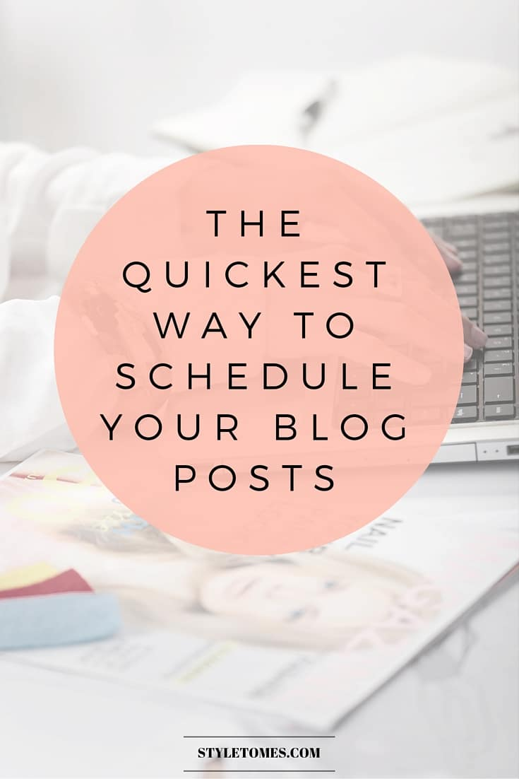 Make Your Blogging Schedule Work with Automation