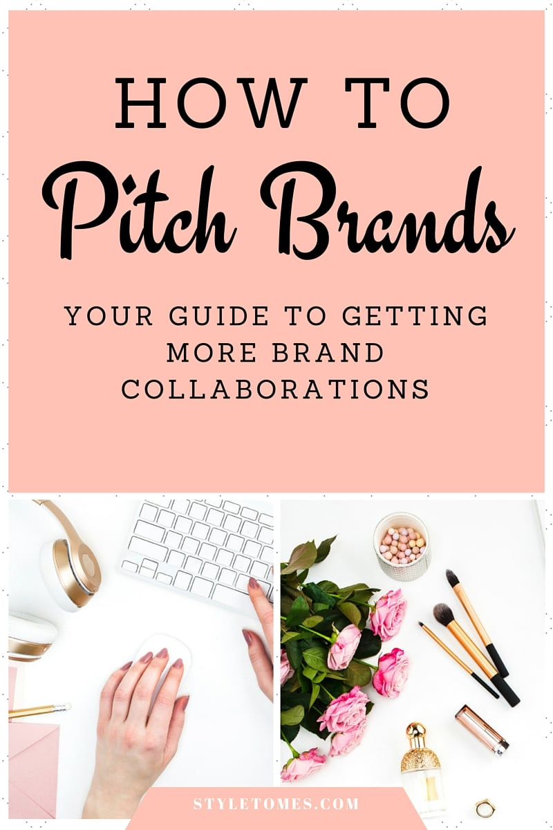 Blogging Tip: How To Collaborate With Brands: Your Guide to Getting More Brand Collaborations and Pitching. If you're a fashion blogger, use the PR directory attached to find your contacts. Ultimately, you want to use a short e-mail as your intro before pitching your bigger idea. Some e-mail templates can be downloaded from the resource library at the link.