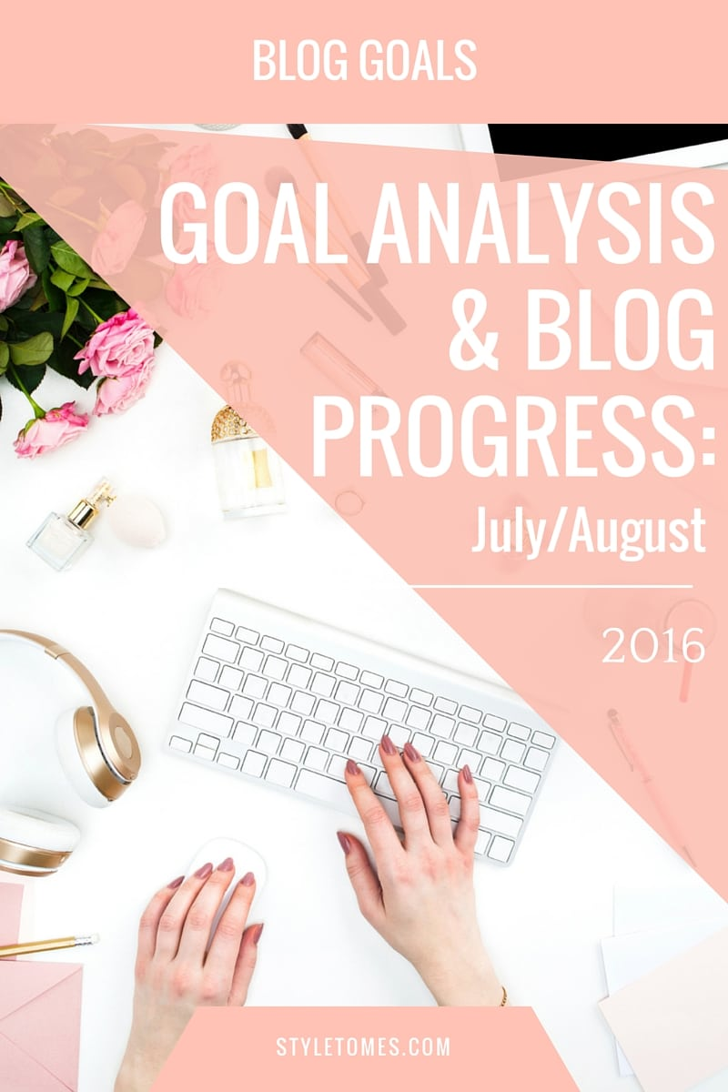 Goal Analysis & Blog Progress for July 2016 and August 2016. The July goal was too hefty and I failed at achieving it. I learned my lesson, and readjusted my August goals to be more realistic and achievable.
