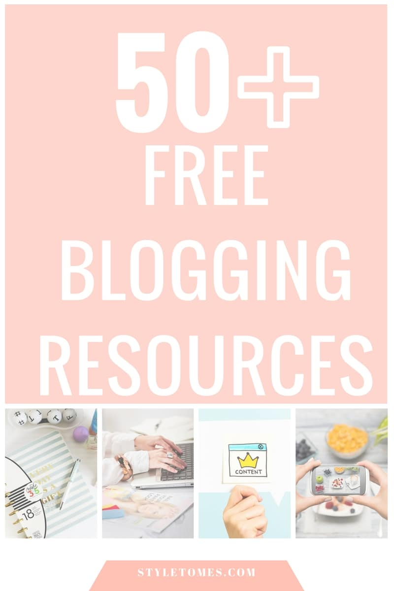 50 Free Blogging Resources for entrepreneurs and bloggers to succeed in running their business.