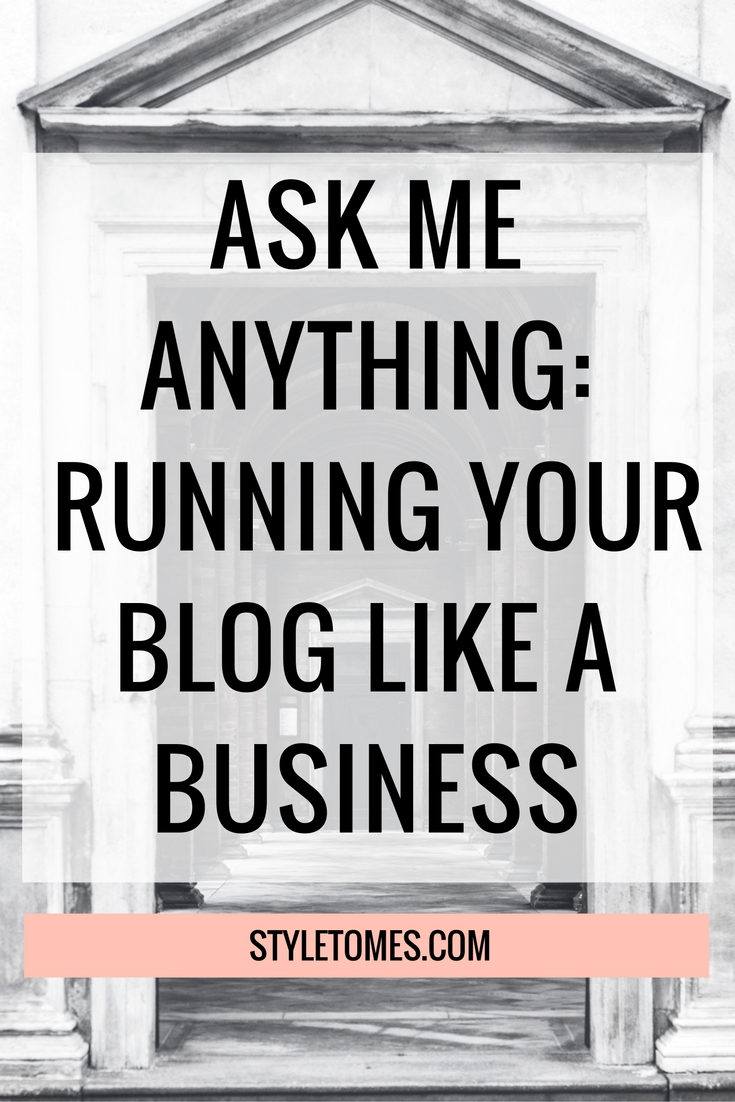 Ask Me Anything: Running Your Blog Like a Business
